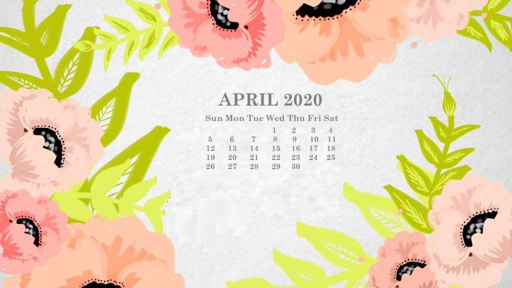 April 2020 Calendar Wallpaper for Desktop