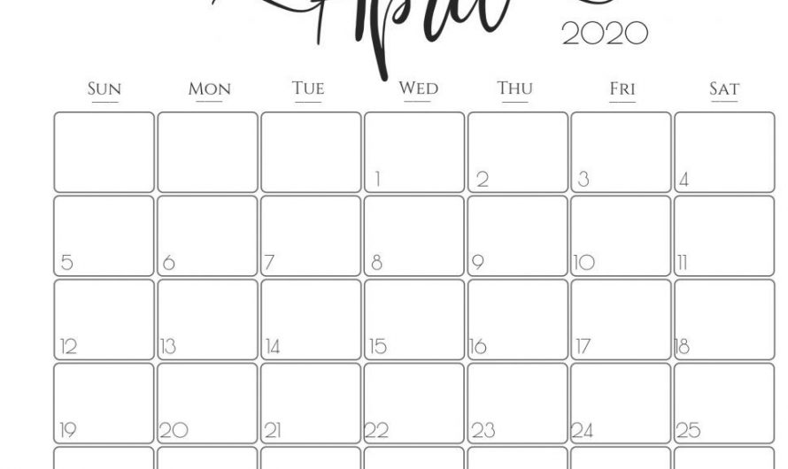 Cute April 2020 Calendar Floral – April 2020 Calendar Wallpaper