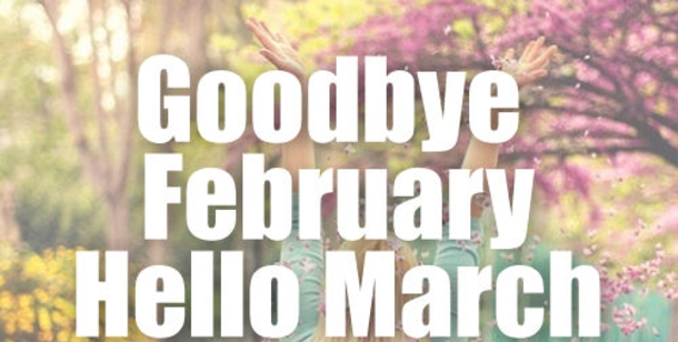 Hello March Sayings