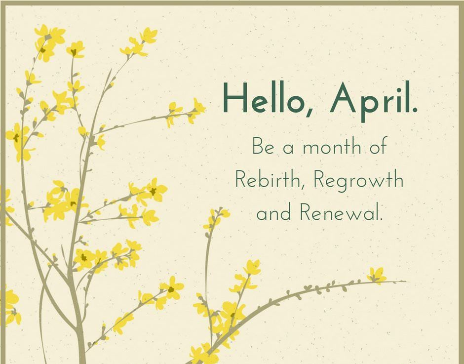 Hello April Sayings