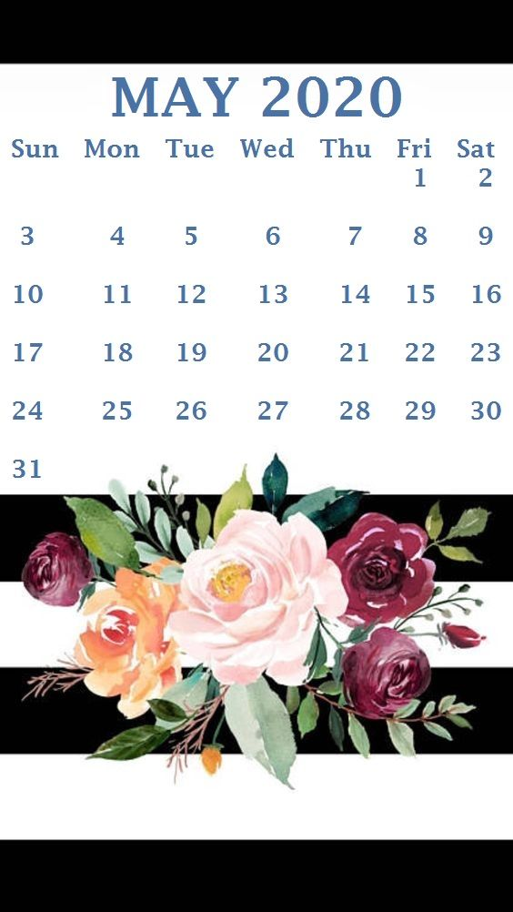 Cute May 2020 Calendar iPhone Wallpaper