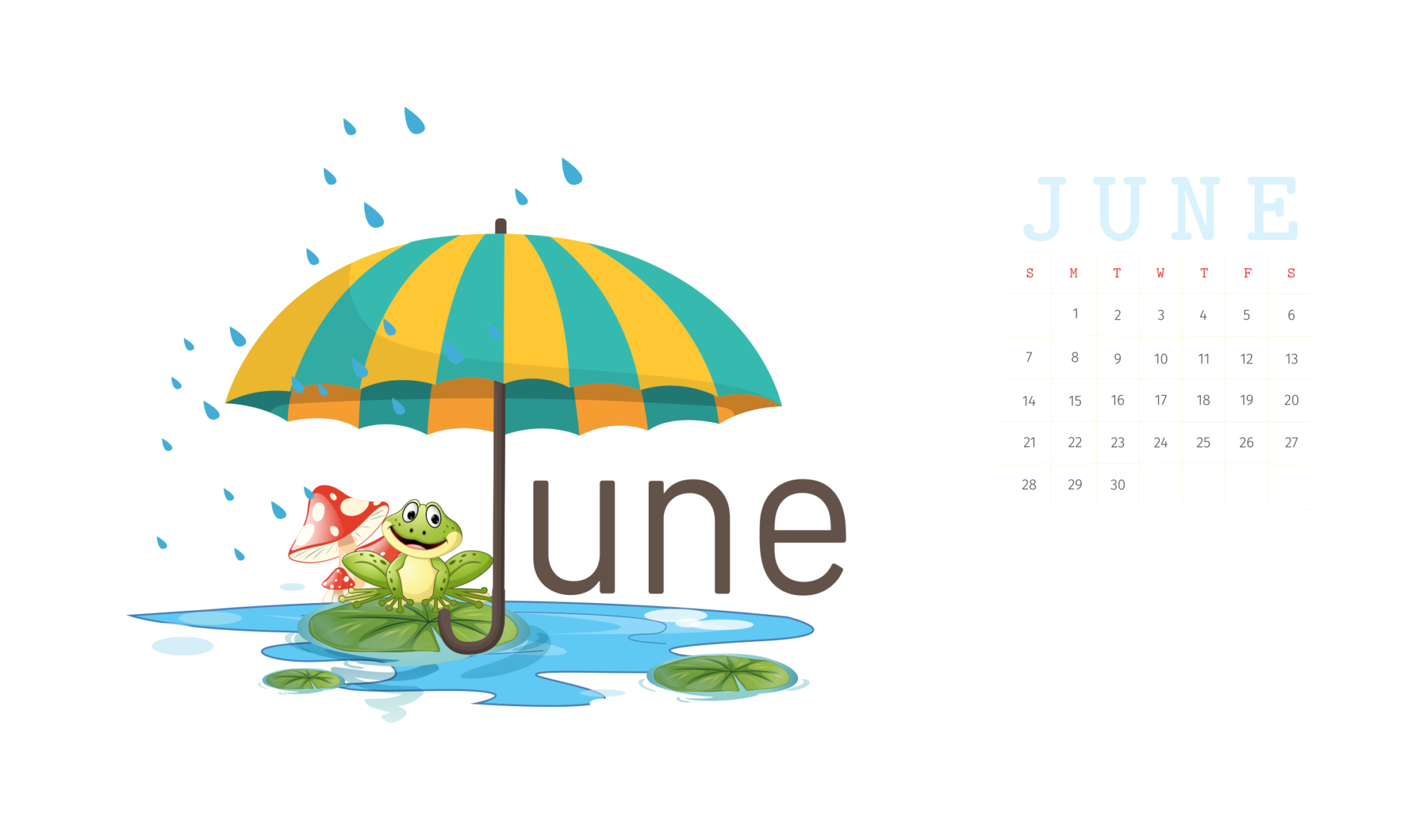 Cute June 2020 Wall Calendar Floral Wallpaper For Desktop Laptop