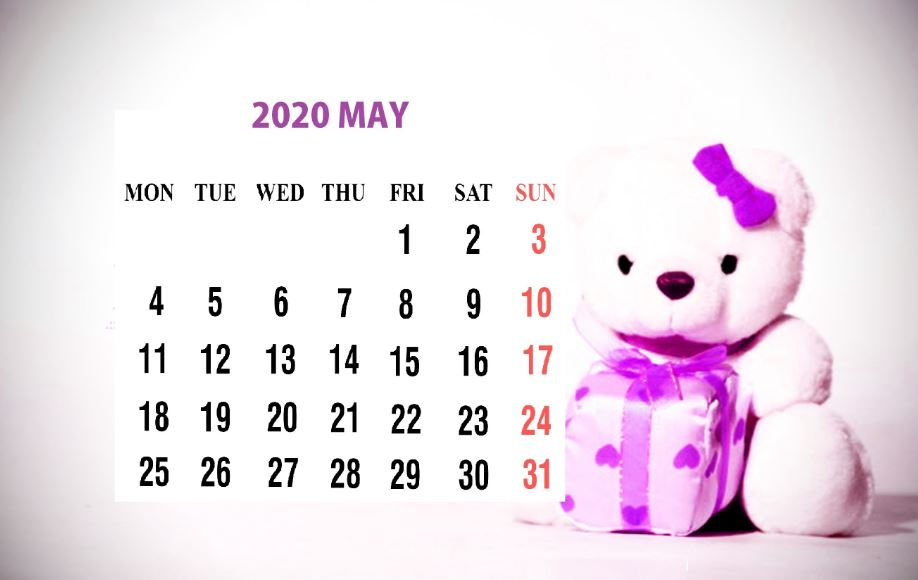 May 2020 Calendar Wallpaper for Desktop