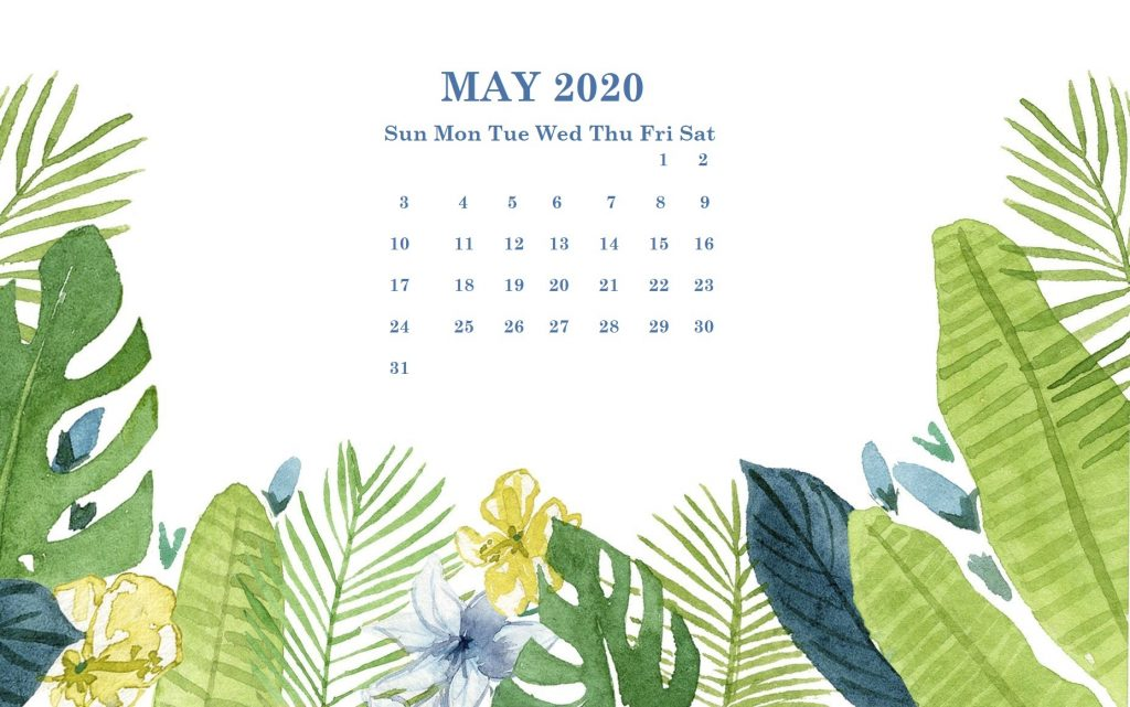 May 2020 Desktop Wallpaper Calendar